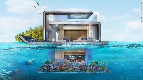 Cận cảnh biệt thự trên mặt biển ở Dubai