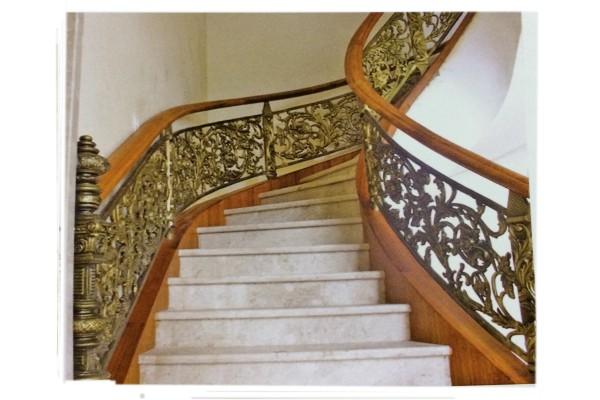 Lan can cầu thang nhôm đúc - CT01