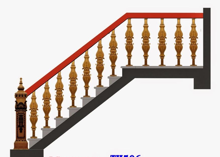 Mẫu cầu thang nhôm đúc - CT07