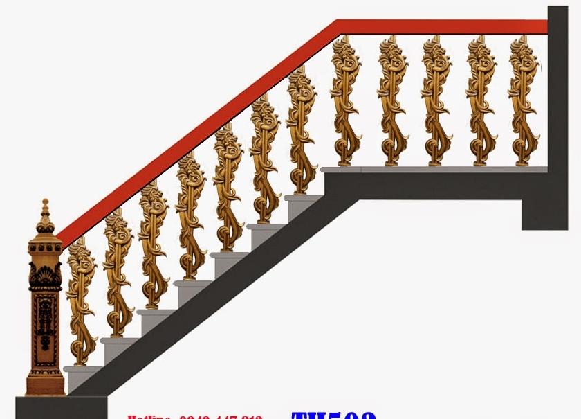 Mẫu cầu thang nhôm đúc - CT08