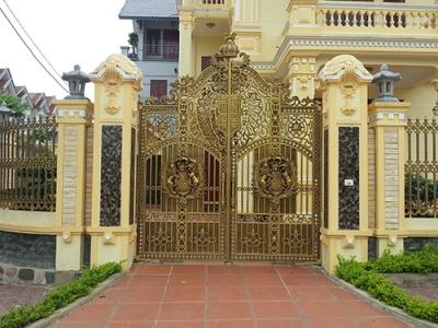 Thi công cổng biệt thự bằng cổng nhôm đúc tại quận Ngô Quyền Hải Phòng