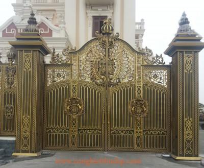 Thi công cổng nhôm đúc tại Bà Rịa - Vũng Tàu