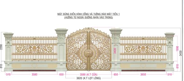 Sản xuất, lắp đặt hàng rào biệt thự, cổng nhôm đúc tại Bắc Ninh