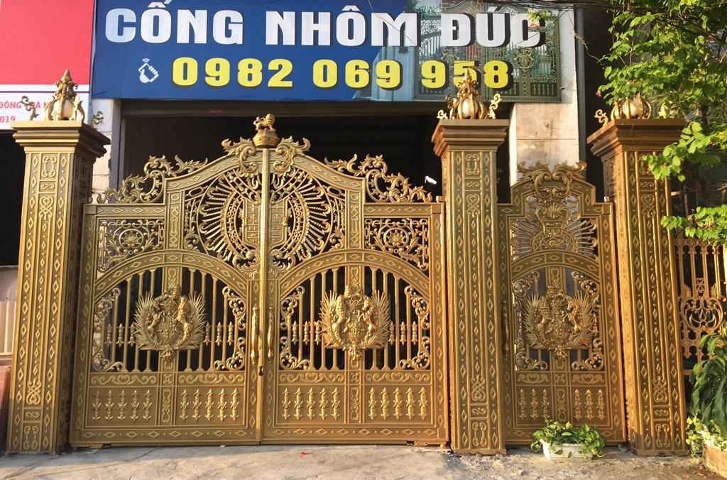 Báo giá cổng nhôm đúc tại Thái Nguyên