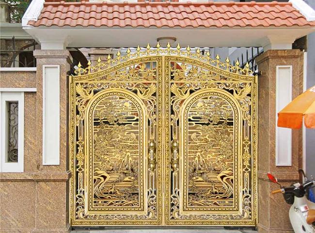 Chuyên thi công lắp đặt cổng biệt thự bằng cổng nhôm đúc tại Hải Dương