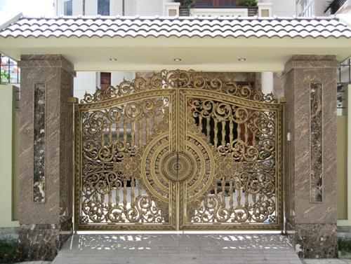 Sản xuất cổng nhôm đúc,thi công cổng nhôm đúc tại Hà Nội