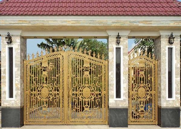 Thi công lắp đặt cổng biệt thự, cổng nhôm đúc tại Hải Hà Quảng Ninh