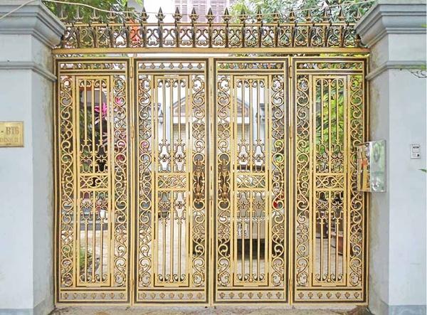 Thi công lắp đặt cổng biệt thự, cổng nhôm đúc tại Uông Bí Quảng Ninh