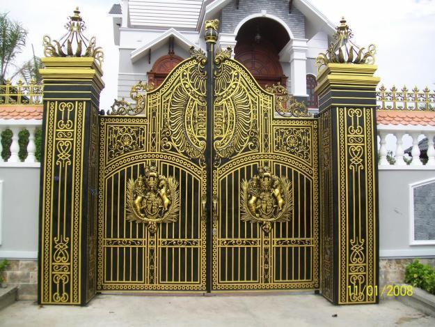Thi công lắp đặt cổng biệt thự, cổng nhôm đúc tại Quận Hồng Bàng - Hải Phòng