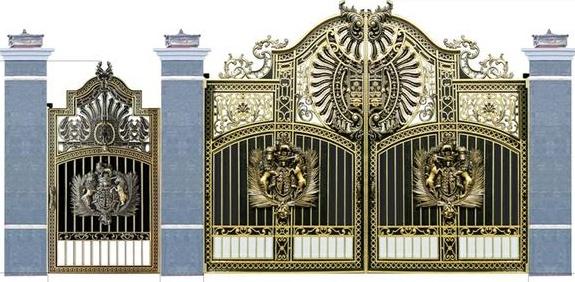 Thi công cổng biệt thự bằng cổng nhôm đúc tại Thủy Nguyên Hải Phòng