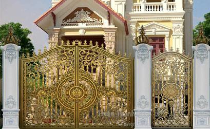Mẫu cổng biệt thự đẹp BT26 : Cổng nhôm đúc nhôm hợp kim