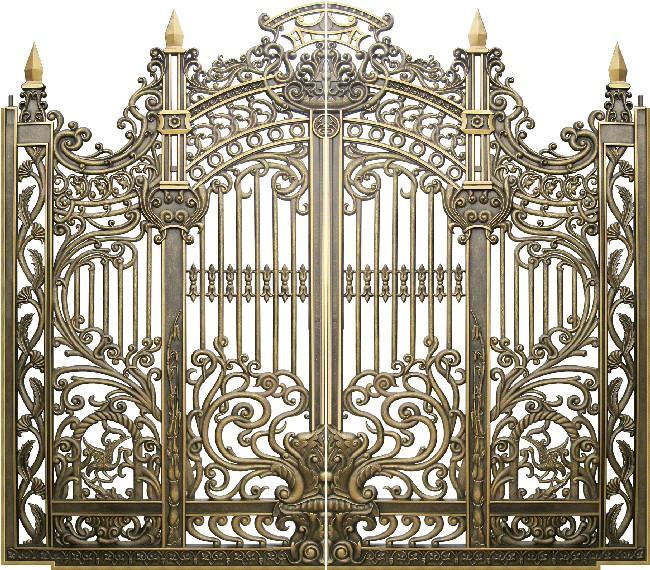 Mẫu cổng nhôm đúc - CN17