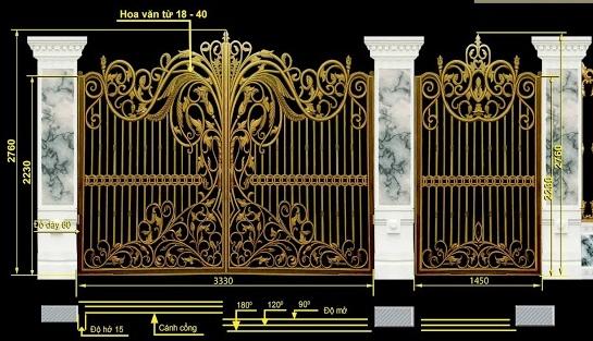 Mẫu cổng nhôm đúc-CN54