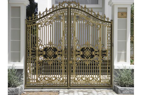 Thi công cổng nhôm đúc tại Chương Mỹ Hà Nội