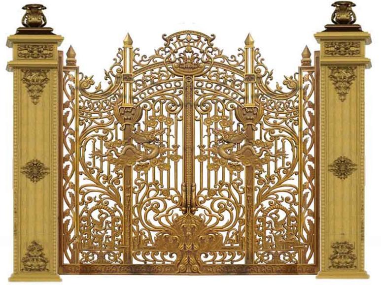 Cổng nhôm đúc cao cấp -congnhadep.com