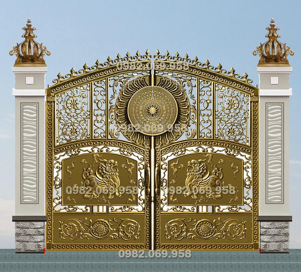 Mẫu cổng nhôm đúc - CN67