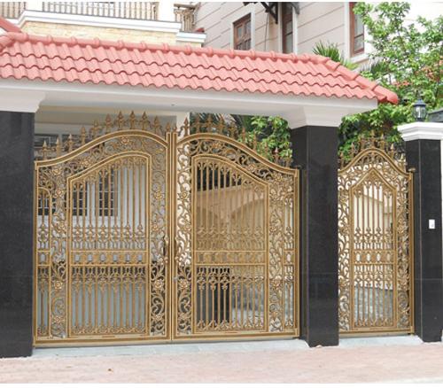Thi công lắp đặt cổng nhôm đúc tại Hà Nội