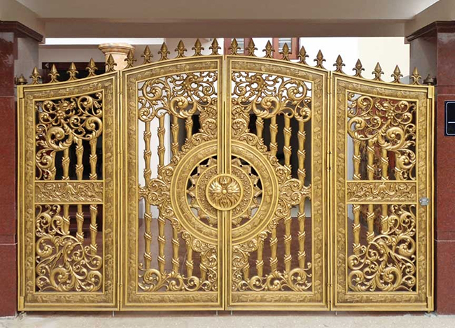 Mẫu cổng nhôm đúc - CN06