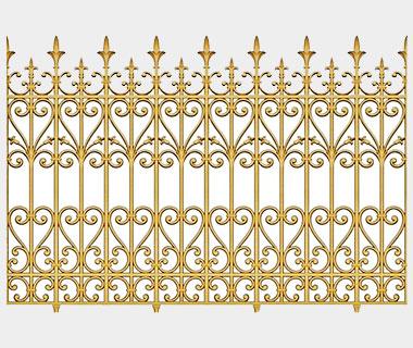 Hàng rào nhôm đúc - H01