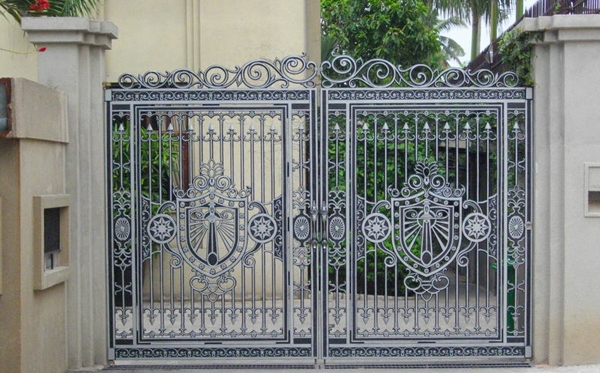 Thi công cổng nhôm đúc tại Lạng Sơn