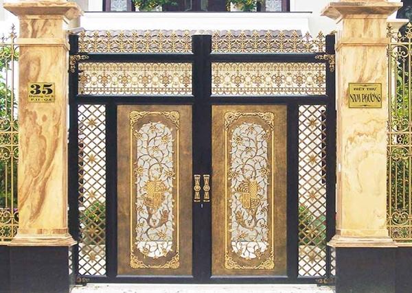 Mẫu cổng nhôm đúc - CN34