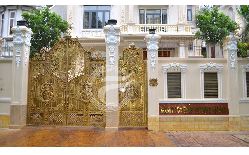 Công trình cổng nhôm đúc  Biệt thự K43 Biên Hòa Đồng Nai