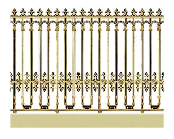 Hàng rào nhôm đúc - H07