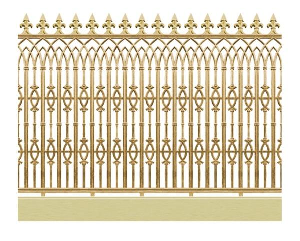 Hàng rào nhôm đúc - H08