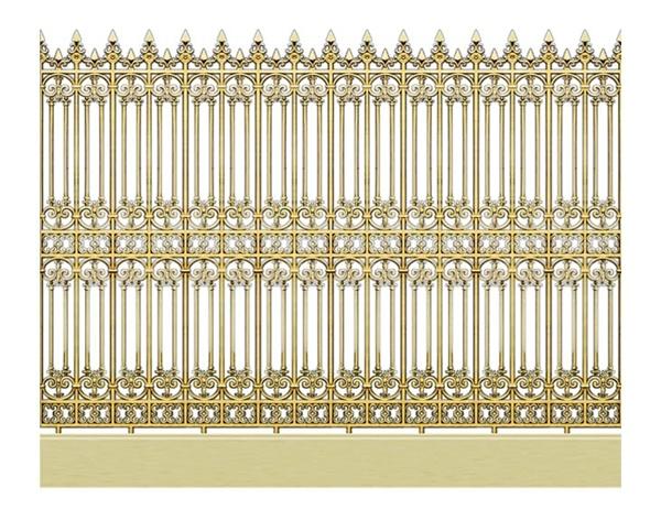 Hàng rào nhôm đúc - H05